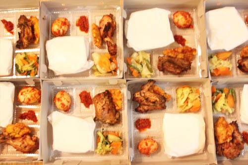 paket nasi box ayam bakar taliwang