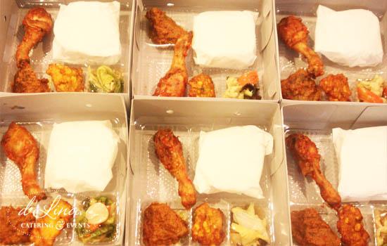 nasi box ayam balado